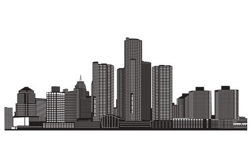 Detroit Impact City Skyline