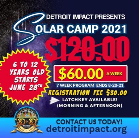 solar camp at Detroit Impact